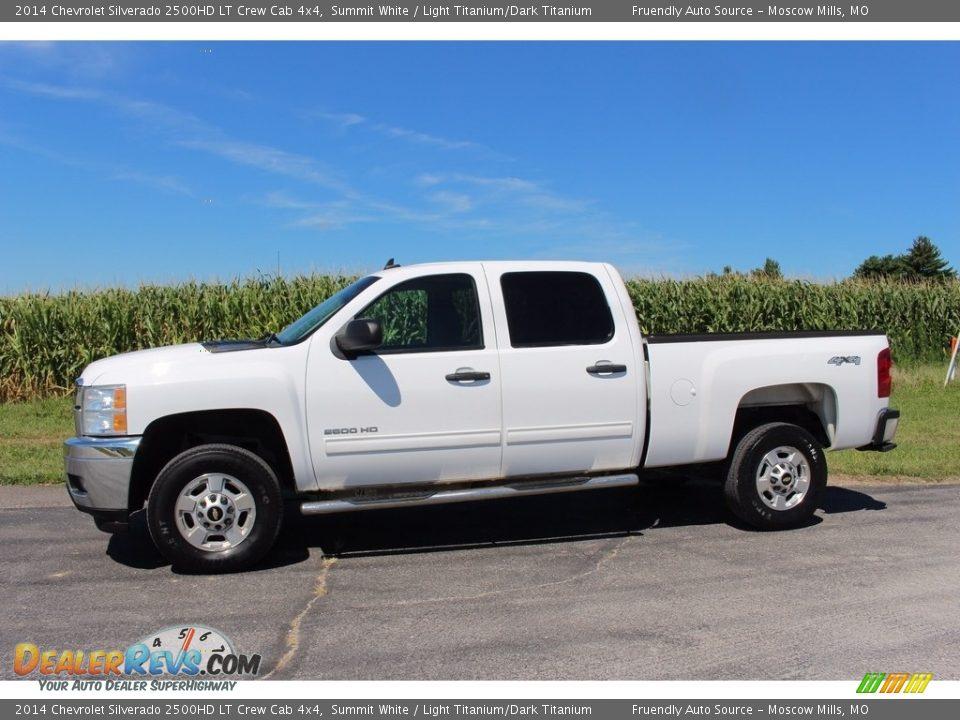 2014 Chevrolet Silverado 2500HD LT Crew Cab 4x4 Summit White / Light Titanium/Dark Titanium Photo #20