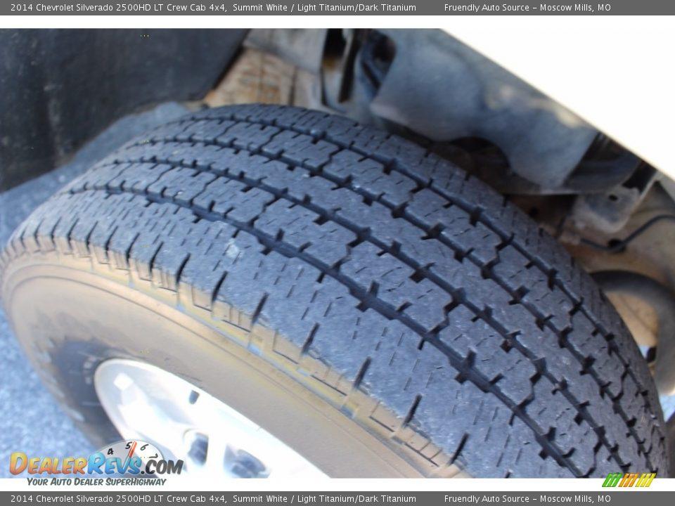 2014 Chevrolet Silverado 2500HD LT Crew Cab 4x4 Summit White / Light Titanium/Dark Titanium Photo #22