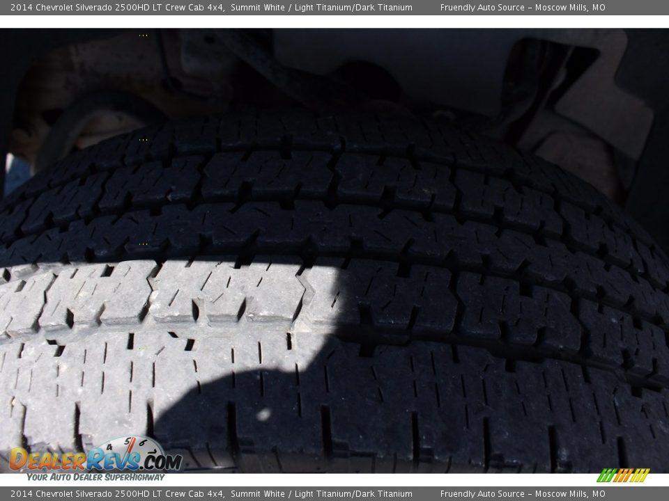 2014 Chevrolet Silverado 2500HD LT Crew Cab 4x4 Summit White / Light Titanium/Dark Titanium Photo #23