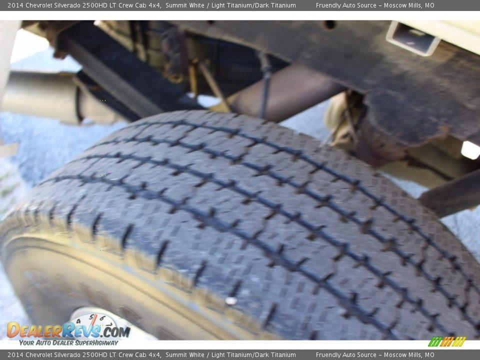 2014 Chevrolet Silverado 2500HD LT Crew Cab 4x4 Summit White / Light Titanium/Dark Titanium Photo #25