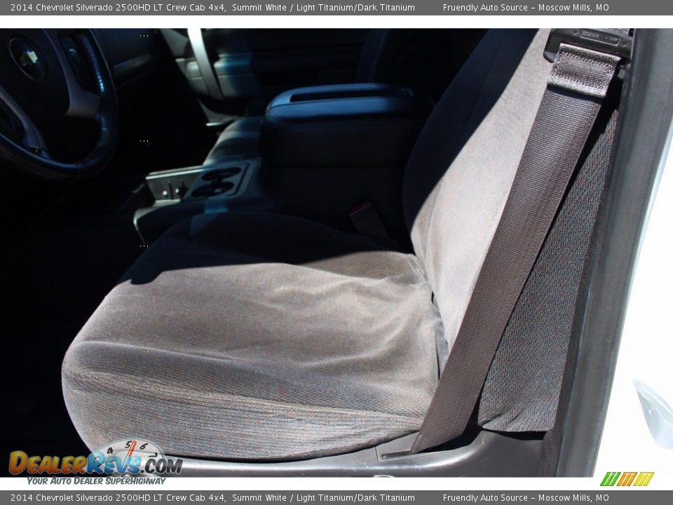 2014 Chevrolet Silverado 2500HD LT Crew Cab 4x4 Summit White / Light Titanium/Dark Titanium Photo #26