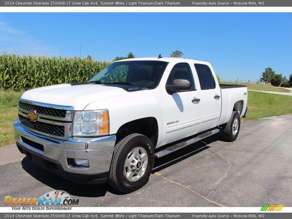 2014 Chevrolet Silverado 2500HD LT Crew Cab 4x4 Summit White / Light Titanium/Dark Titanium Photo #28