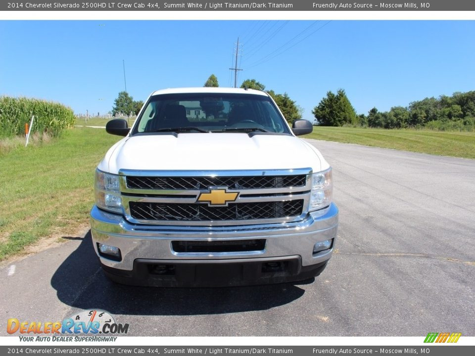 2014 Chevrolet Silverado 2500HD LT Crew Cab 4x4 Summit White / Light Titanium/Dark Titanium Photo #29