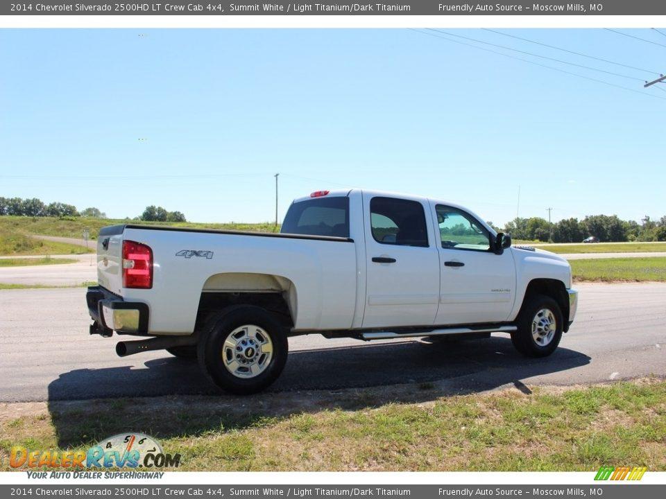 2014 Chevrolet Silverado 2500HD LT Crew Cab 4x4 Summit White / Light Titanium/Dark Titanium Photo #31
