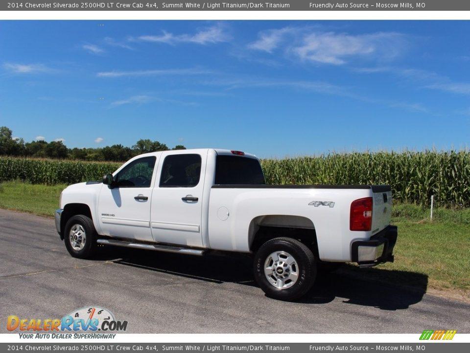 2014 Chevrolet Silverado 2500HD LT Crew Cab 4x4 Summit White / Light Titanium/Dark Titanium Photo #32