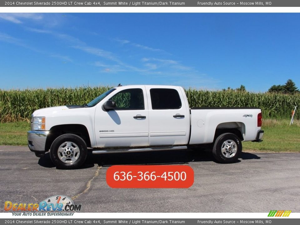 2014 Chevrolet Silverado 2500HD LT Crew Cab 4x4 Summit White / Light Titanium/Dark Titanium Photo #34