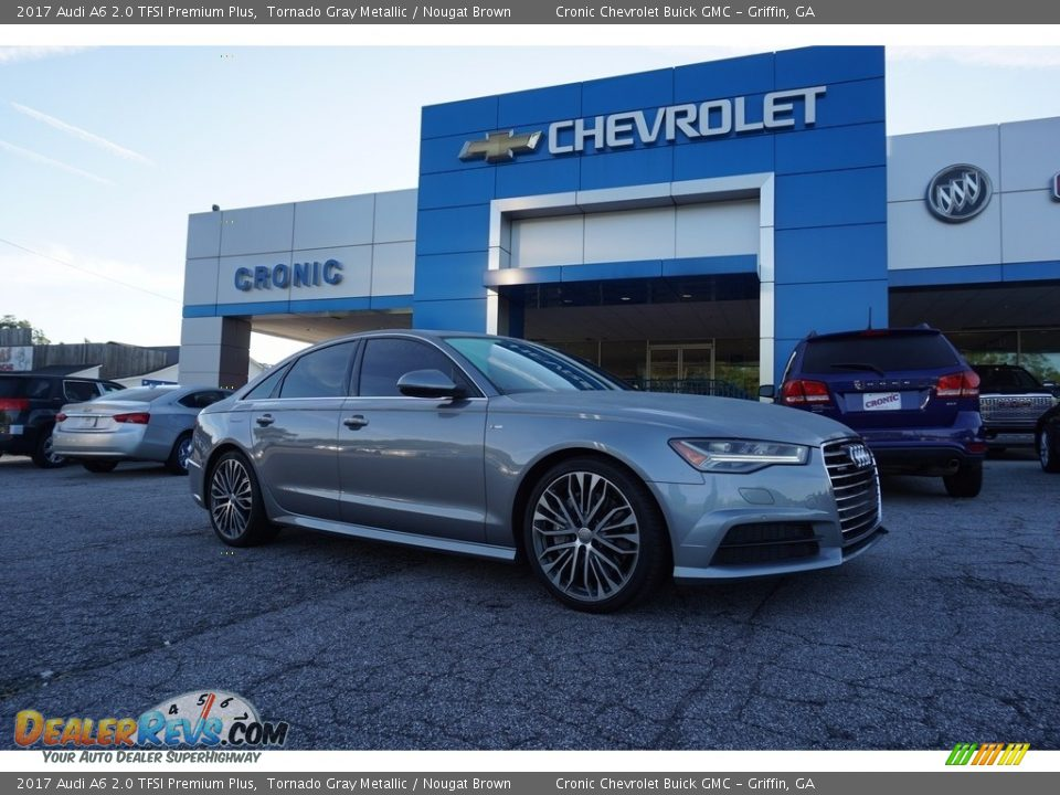 2017 Audi A6 2.0 TFSI Premium Plus Tornado Gray Metallic / Nougat Brown Photo #1