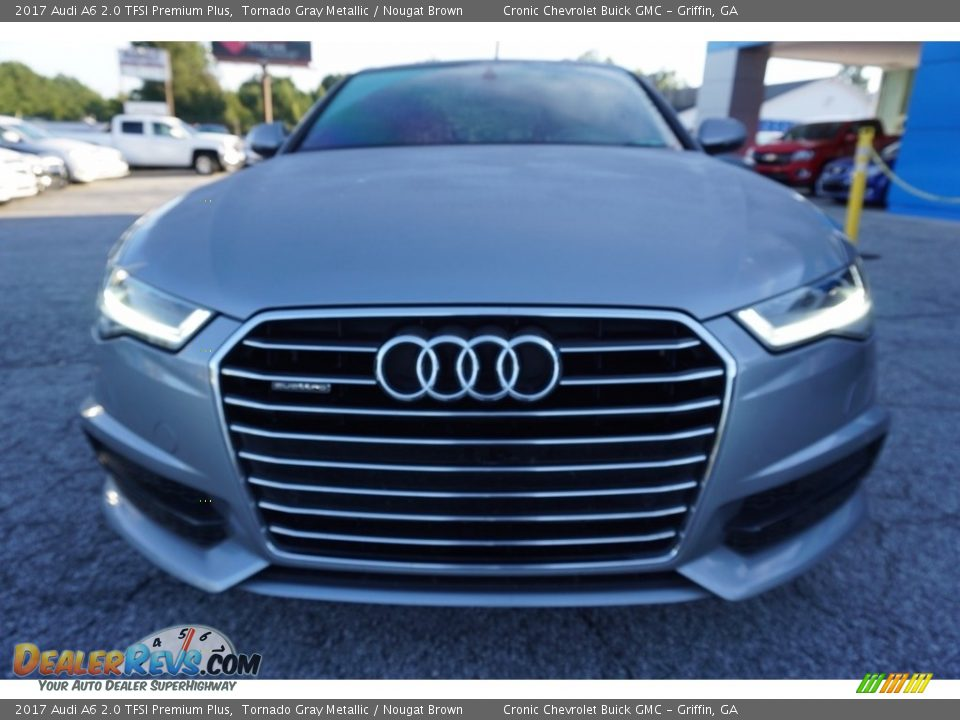 2017 Audi A6 2.0 TFSI Premium Plus Tornado Gray Metallic / Nougat Brown Photo #2