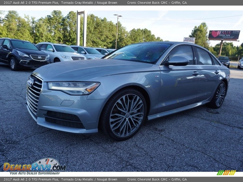 2017 Audi A6 2.0 TFSI Premium Plus Tornado Gray Metallic / Nougat Brown Photo #3