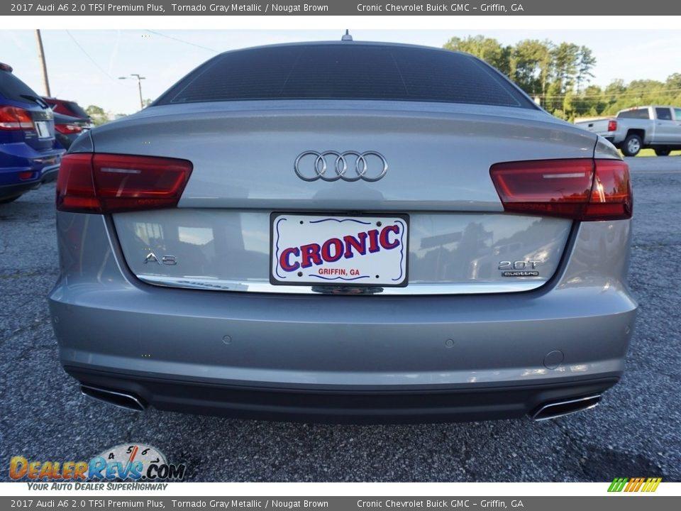 2017 Audi A6 2.0 TFSI Premium Plus Tornado Gray Metallic / Nougat Brown Photo #6