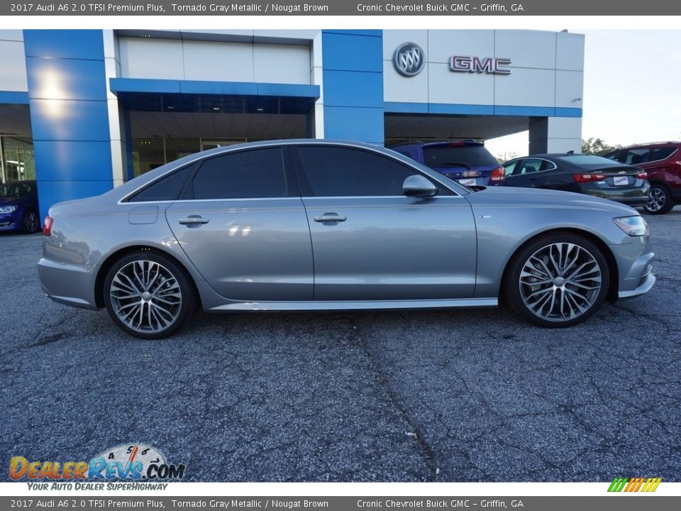 2017 Audi A6 2.0 TFSI Premium Plus Tornado Gray Metallic / Nougat Brown Photo #8