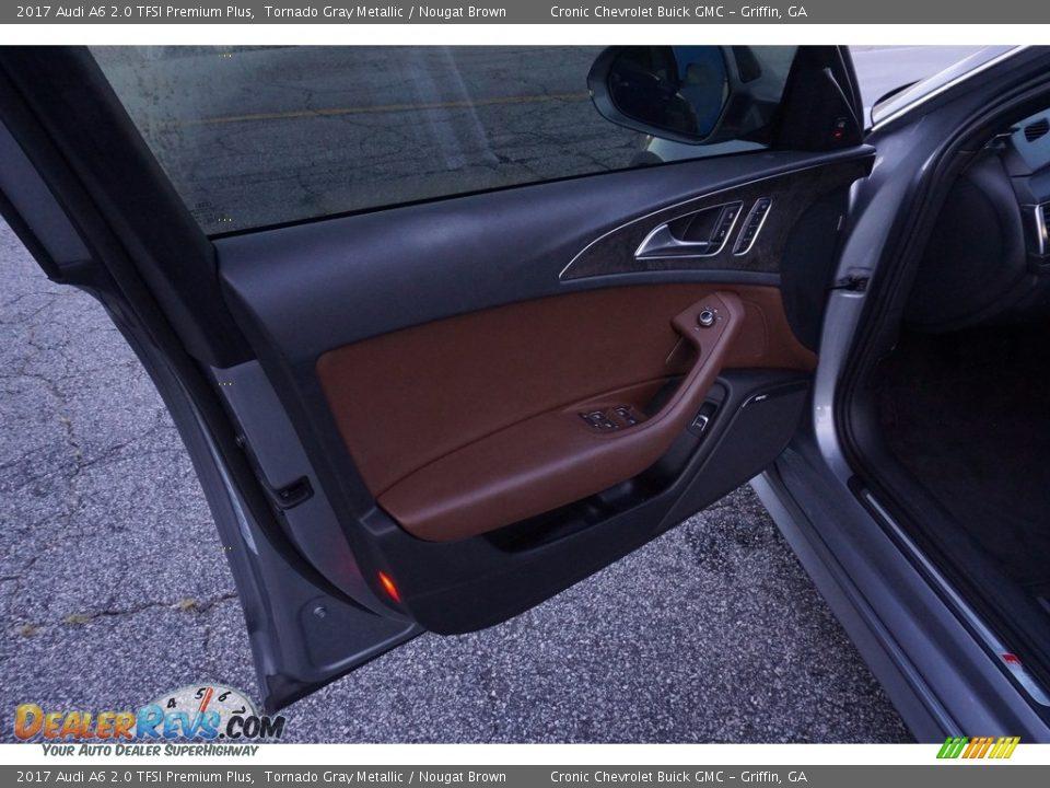 2017 Audi A6 2.0 TFSI Premium Plus Tornado Gray Metallic / Nougat Brown Photo #12