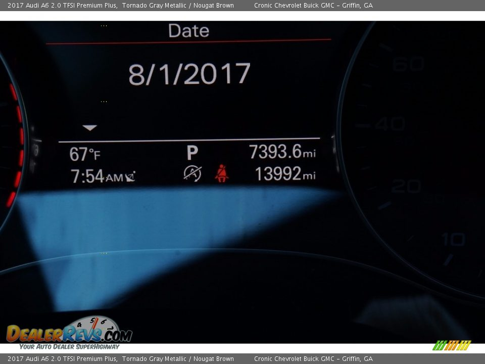 2017 Audi A6 2.0 TFSI Premium Plus Tornado Gray Metallic / Nougat Brown Photo #25