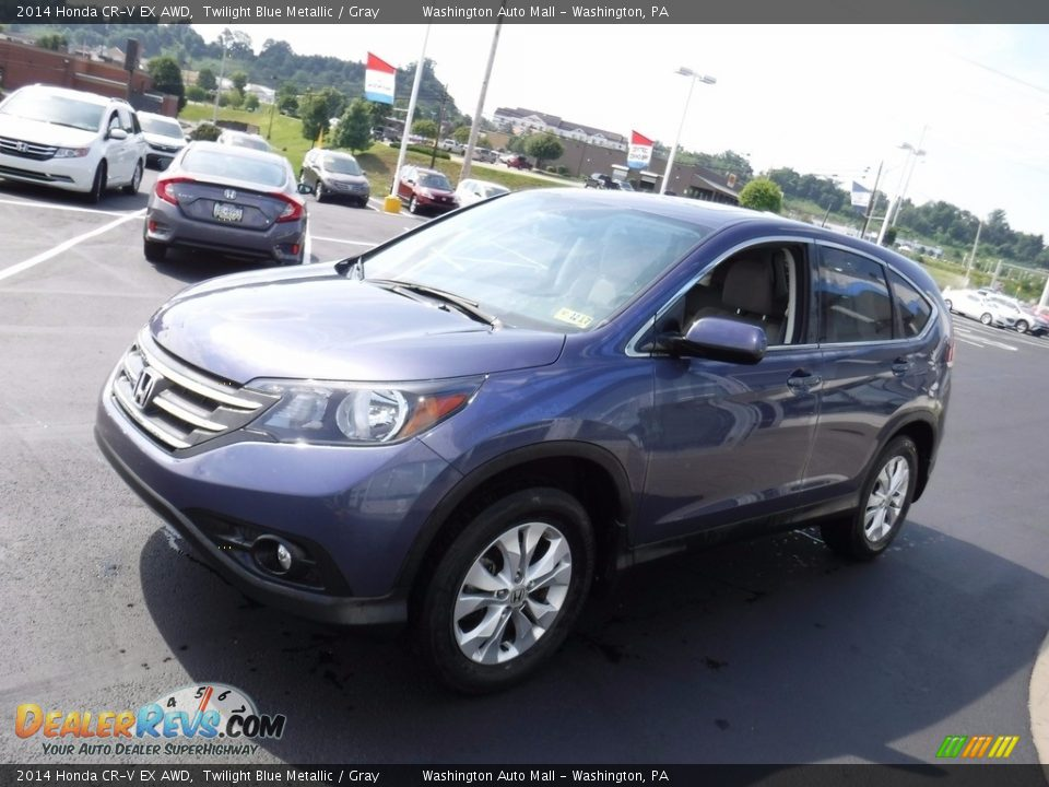 2014 Honda CR-V EX AWD Twilight Blue Metallic / Gray Photo #5