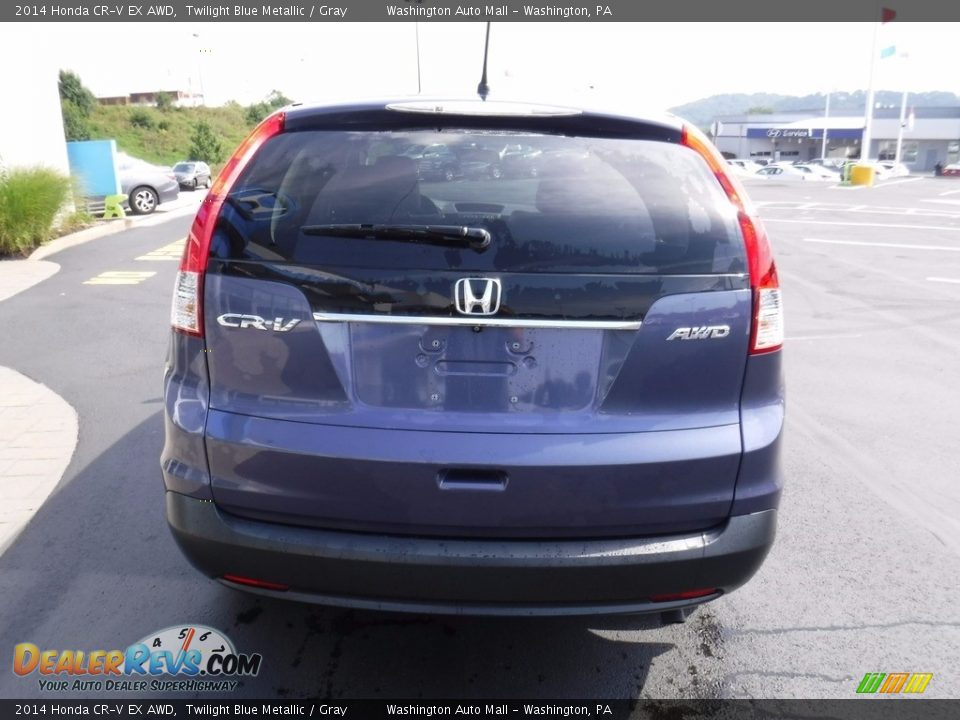 2014 Honda CR-V EX AWD Twilight Blue Metallic / Gray Photo #8