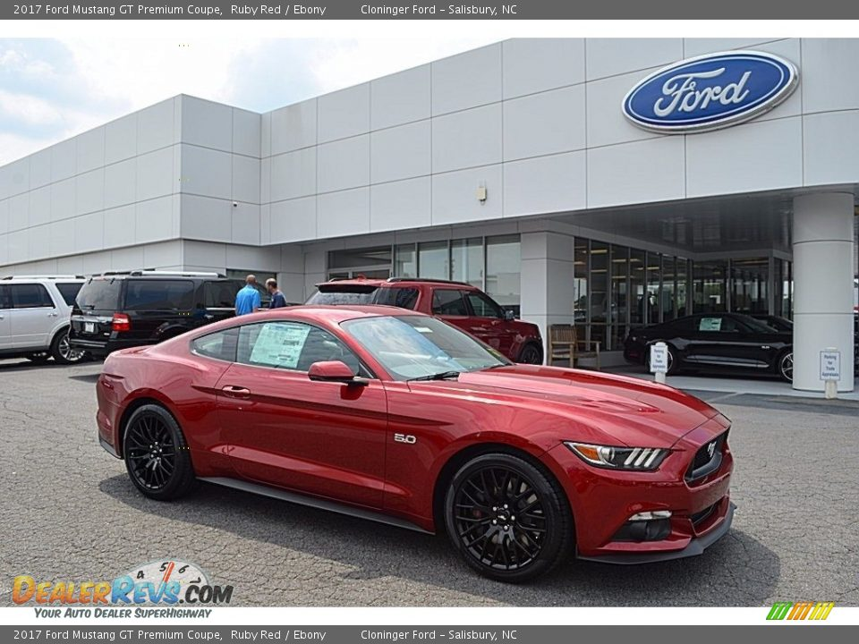 2017 Ford Mustang GT Premium Coupe Ruby Red / Ebony Photo #1