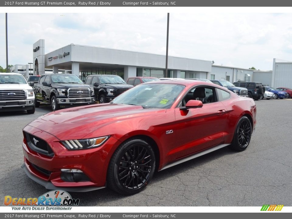2017 Ford Mustang GT Premium Coupe Ruby Red / Ebony Photo #3