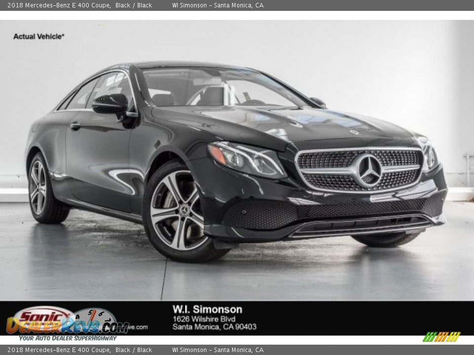 2018 Mercedes-Benz E 400 Coupe Black / Black Photo #1