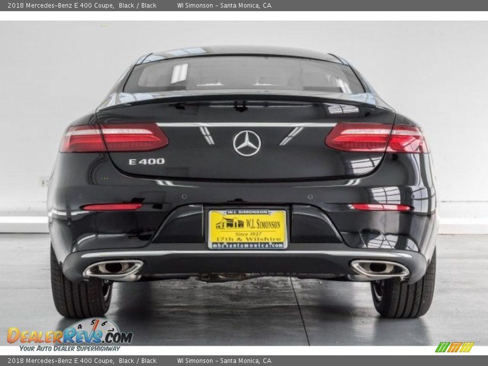 2018 Mercedes-Benz E 400 Coupe Black / Black Photo #4