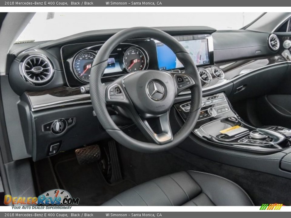 2018 Mercedes-Benz E 400 Coupe Black / Black Photo #6