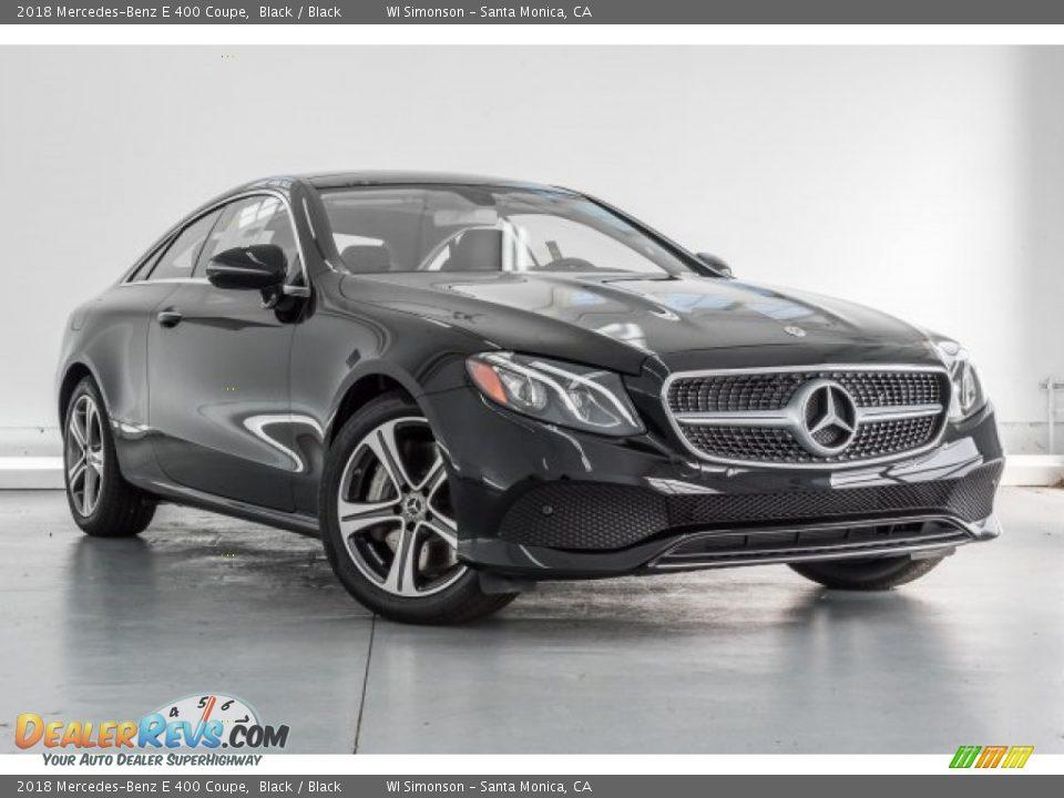 2018 Mercedes-Benz E 400 Coupe Black / Black Photo #12