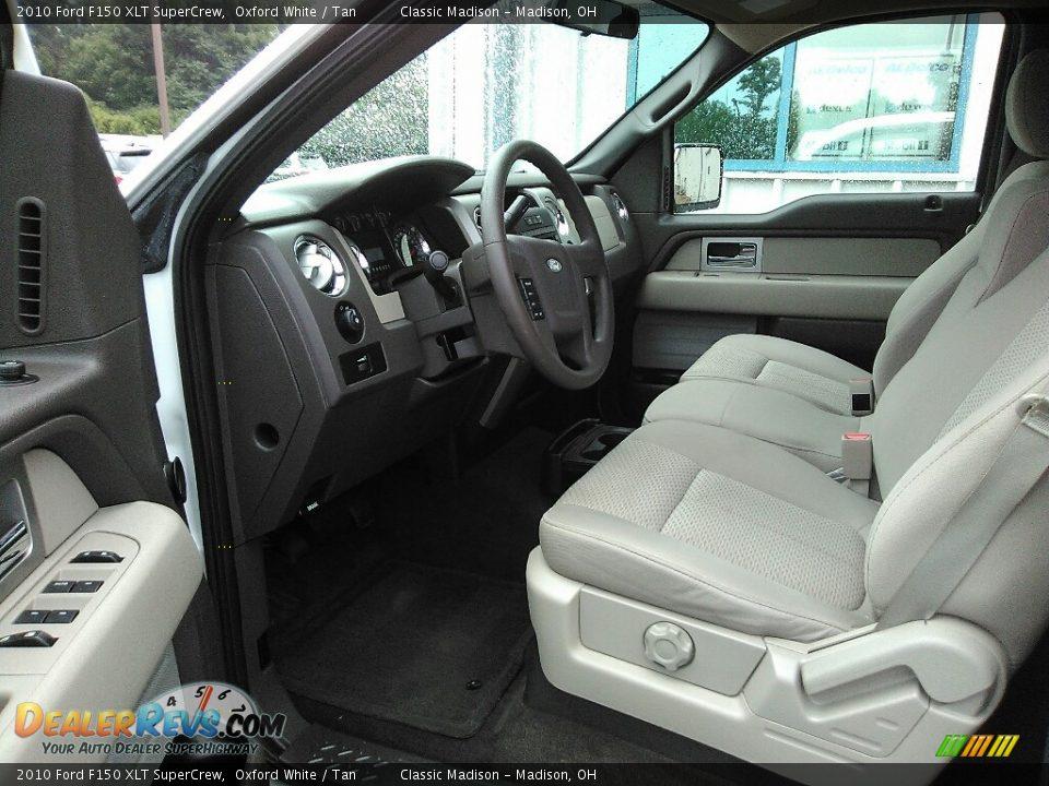 2010 Ford F150 XLT SuperCrew Oxford White / Tan Photo #6