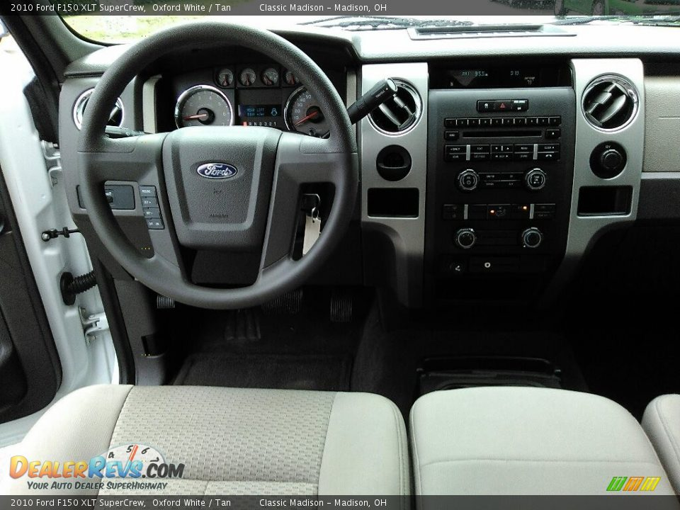 2010 Ford F150 XLT SuperCrew Oxford White / Tan Photo #7