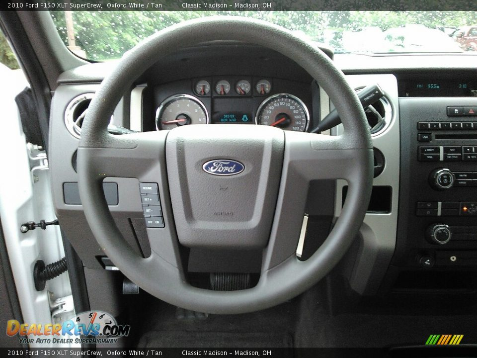 2010 Ford F150 XLT SuperCrew Oxford White / Tan Photo #8