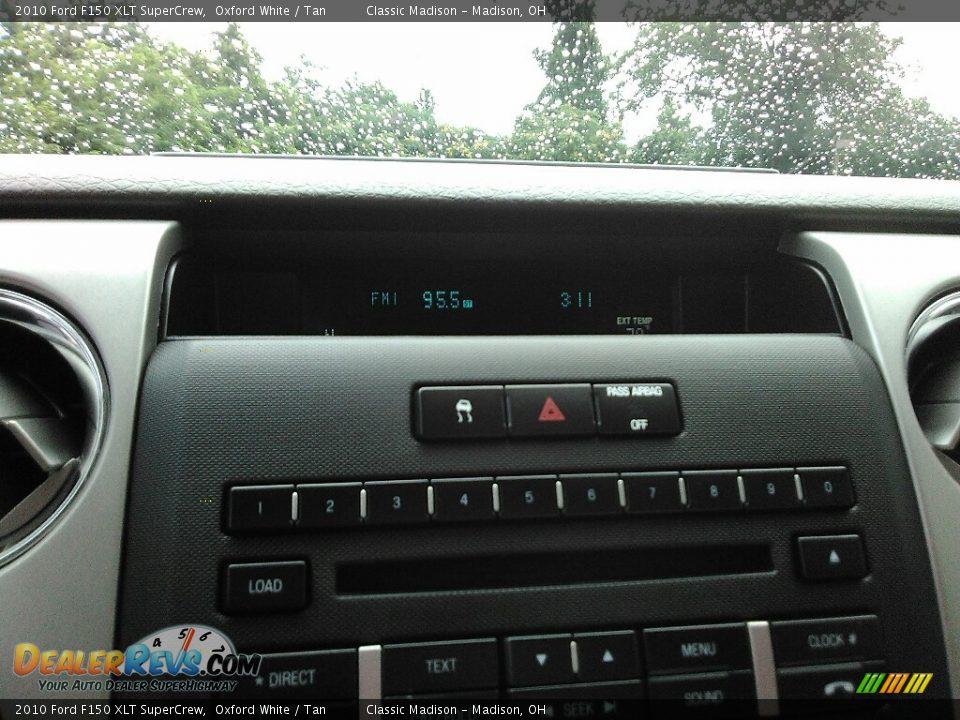 2010 Ford F150 XLT SuperCrew Oxford White / Tan Photo #9