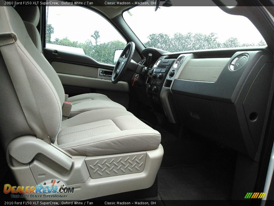 2010 Ford F150 XLT SuperCrew Oxford White / Tan Photo #12