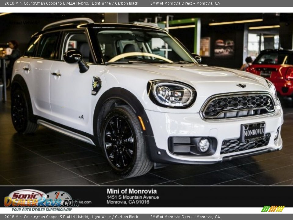 2018 Mini Countryman Cooper S E ALL4 Hybrid Light White / Carbon Black Photo #1