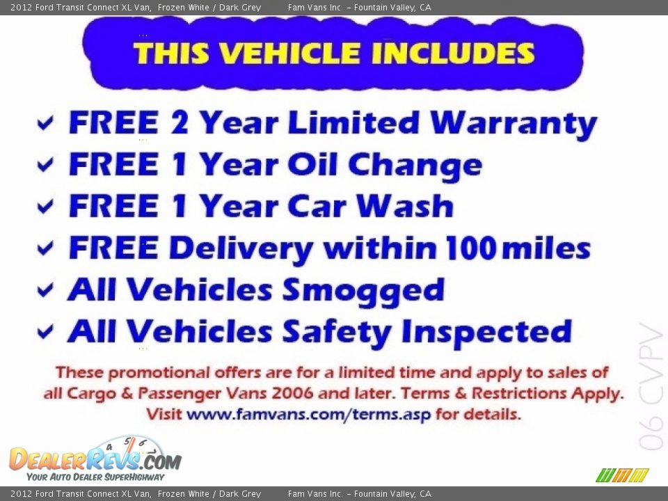 2012 Ford Transit Connect XL Van Frozen White / Dark Grey Photo #2