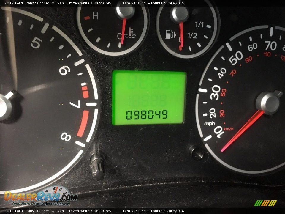 2012 Ford Transit Connect XL Van Frozen White / Dark Grey Photo #16
