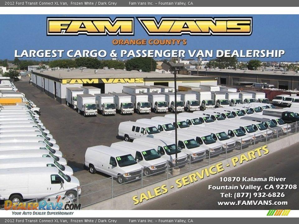 2012 Ford Transit Connect XL Van Frozen White / Dark Grey Photo #22