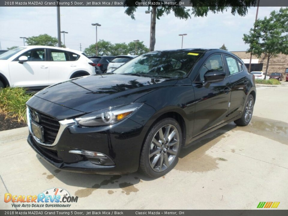 2018 Mazda MAZDA3 Grand Touring 5 Door Jet Black Mica / Black Photo #1