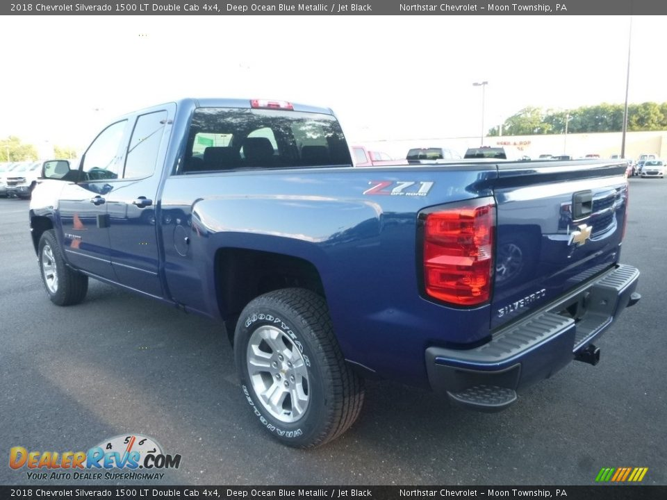 2018 Chevrolet Silverado 1500 LT Double Cab 4x4 Deep Ocean Blue Metallic / Jet Black Photo #3