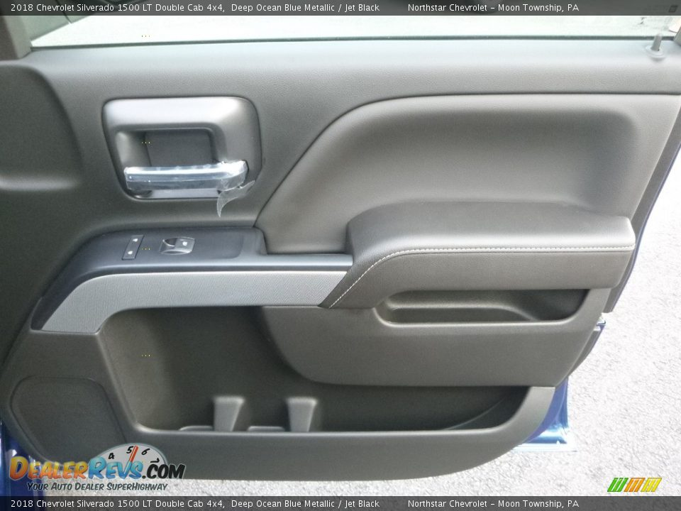 2018 Chevrolet Silverado 1500 LT Double Cab 4x4 Deep Ocean Blue Metallic / Jet Black Photo #10