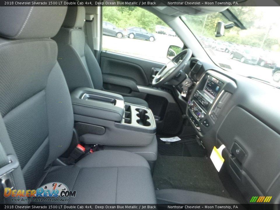 2018 Chevrolet Silverado 1500 LT Double Cab 4x4 Deep Ocean Blue Metallic / Jet Black Photo #11