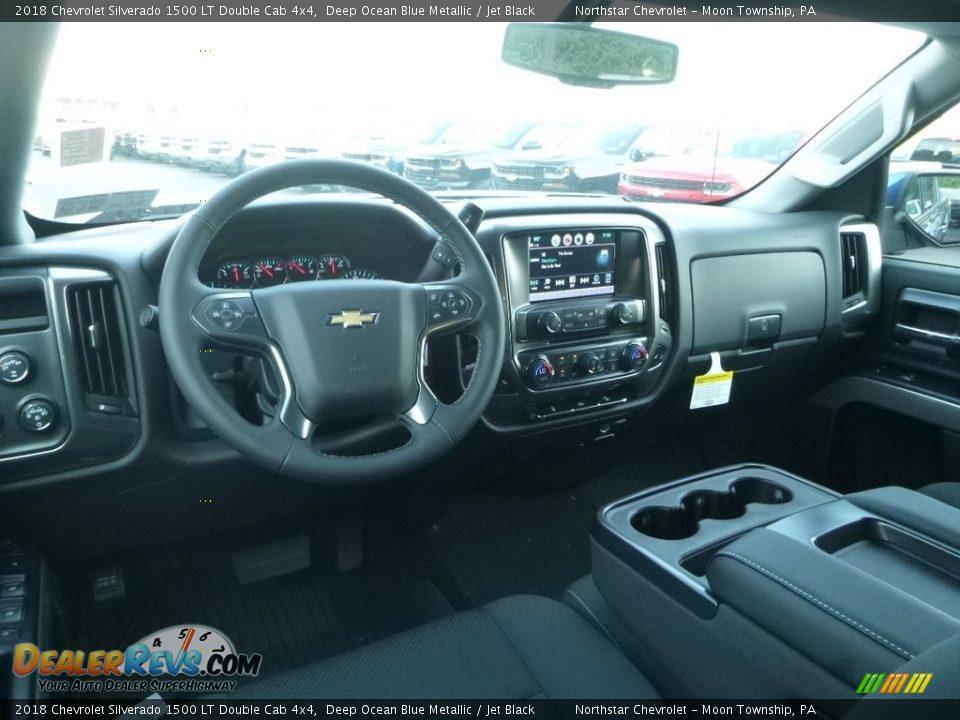 2018 Chevrolet Silverado 1500 LT Double Cab 4x4 Deep Ocean Blue Metallic / Jet Black Photo #15