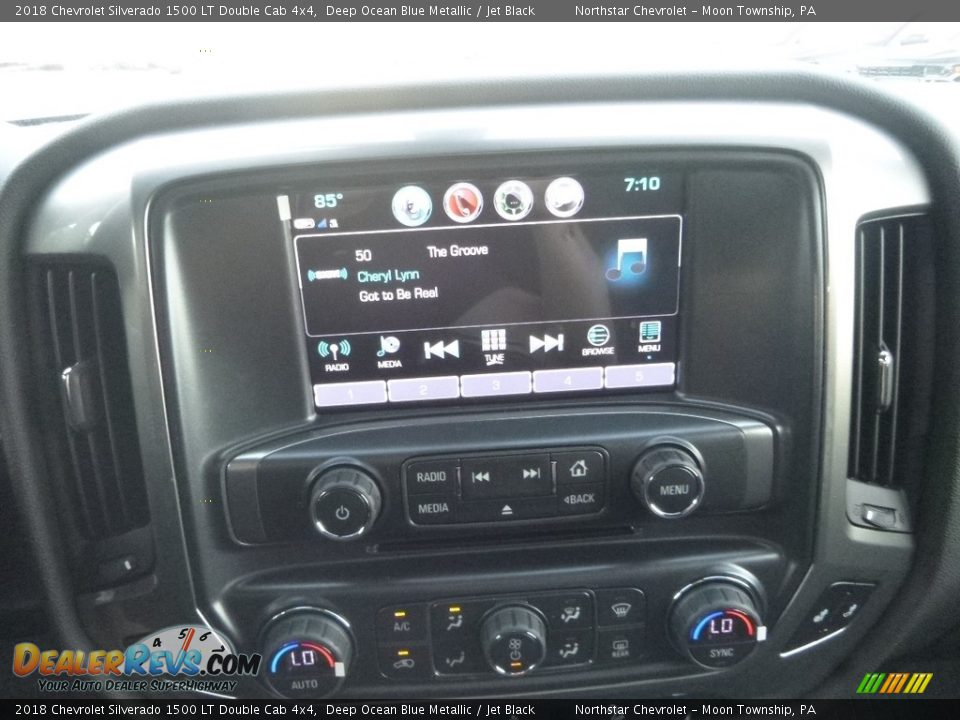2018 Chevrolet Silverado 1500 LT Double Cab 4x4 Deep Ocean Blue Metallic / Jet Black Photo #19