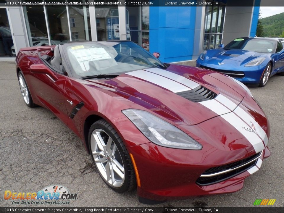Front 3/4 View of 2018 Chevrolet Corvette Stingray Convertible Photo #4