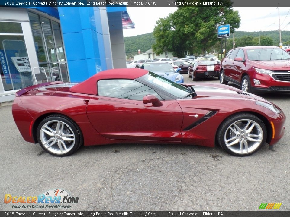 2018 Chevrolet Corvette Stingray Convertible Long Beach Red Metallic Tintcoat / Gray Photo #11