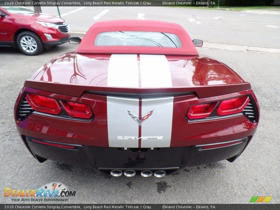 2018 Chevrolet Corvette Stingray Convertible Long Beach Red Metallic Tintcoat / Gray Photo #13