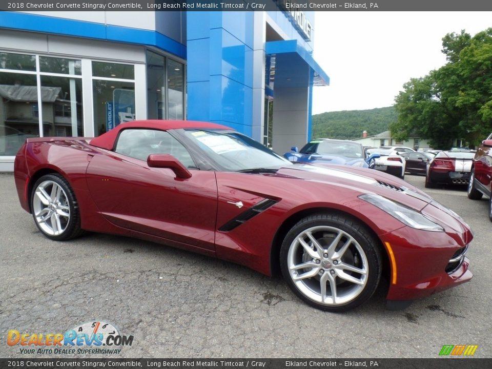 Long Beach Red Metallic Tintcoat 2018 Chevrolet Corvette Stingray Convertible Photo #16