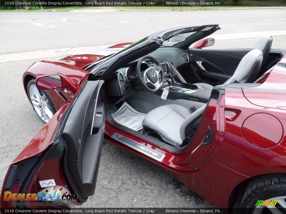 2018 Chevrolet Corvette Stingray Convertible Long Beach Red Metallic Tintcoat / Gray Photo #22
