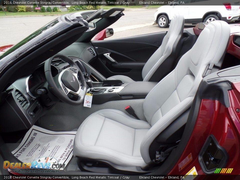 Gray Interior - 2018 Chevrolet Corvette Stingray Convertible Photo #24