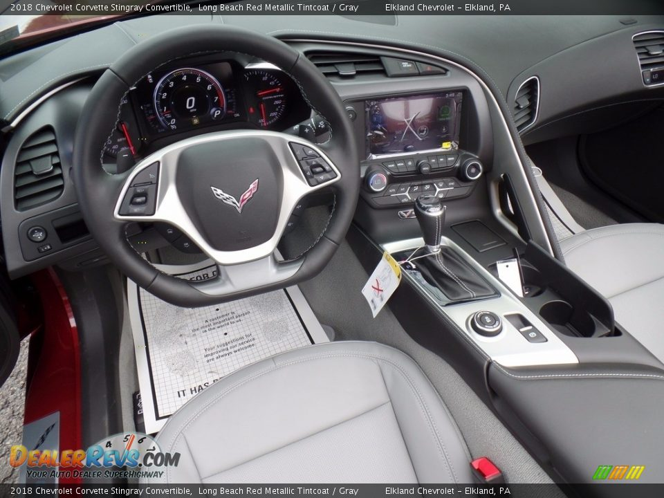 2018 Chevrolet Corvette Stingray Convertible Long Beach Red Metallic Tintcoat / Gray Photo #25