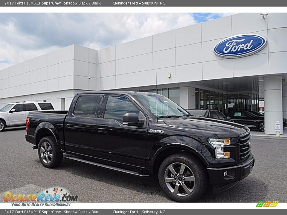2017 Ford F150 XLT SuperCrew Shadow Black / Black Photo #1