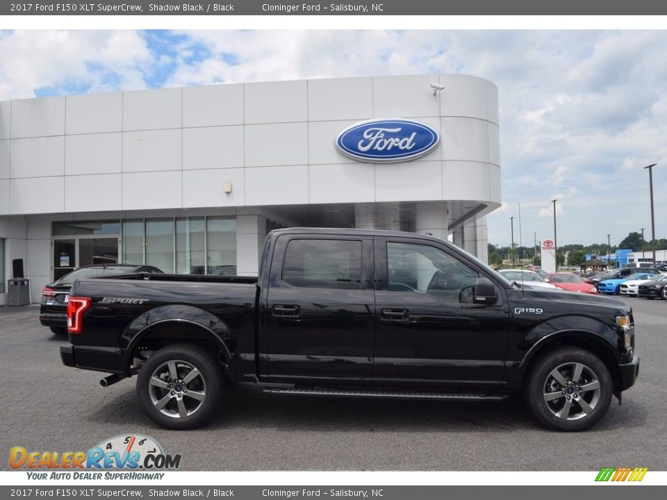 2017 Ford F150 XLT SuperCrew Shadow Black / Black Photo #2