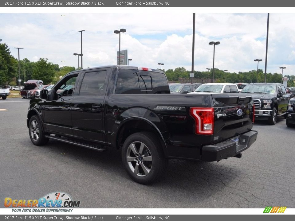 2017 Ford F150 XLT SuperCrew Shadow Black / Black Photo #22